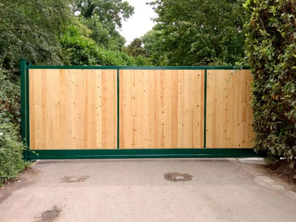 Commercial Metal Frame Wooden Gates