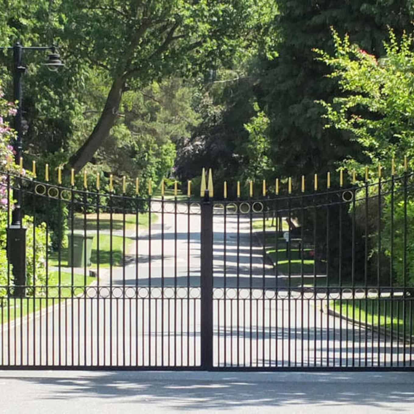 Residential Dual Sliding Metal Gate