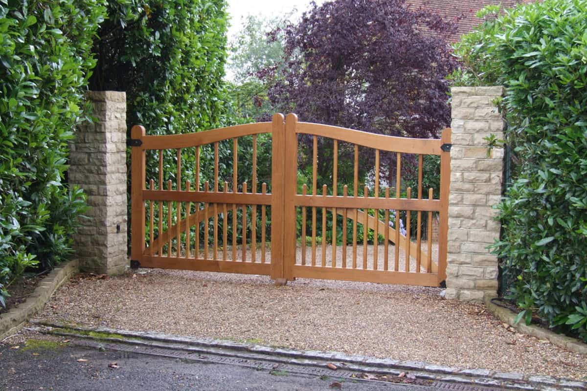 Brown Timber Wood Field Gate